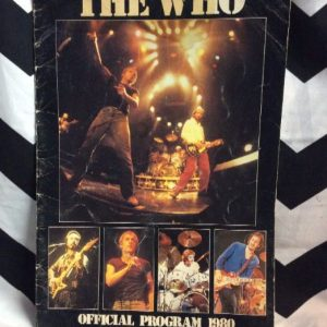 The Who- Official Program 1980 1
