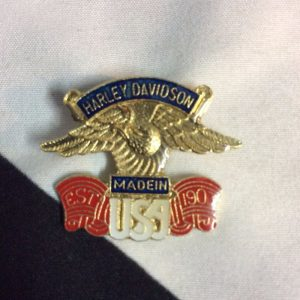 PIN GOLD HARLEY MADE IN USA EAGLE 1