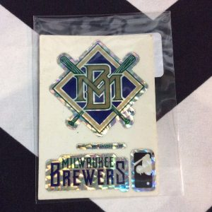 STICKER MILWAUKEE BREWERS VENDING CARD *old stock 1