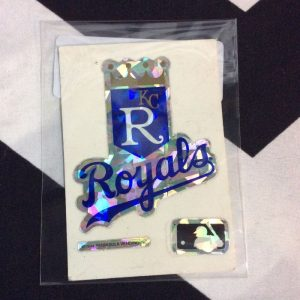 STICKER KC ROYALS VENDING CARD *old stock 1