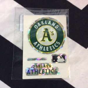STICKER OAKLAND ATHLETICS VENDING CARD *old stock 1