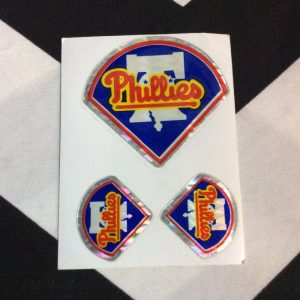 STICKER PHILLIES VENDING CARD *old stock 1