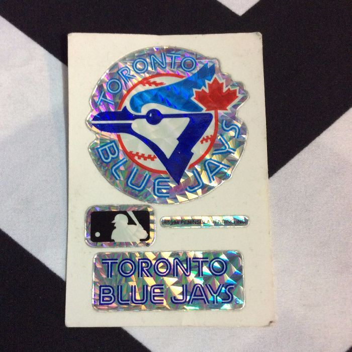 STICKER TORONTO BLUE JAYS VENDING CARD *old stock 1