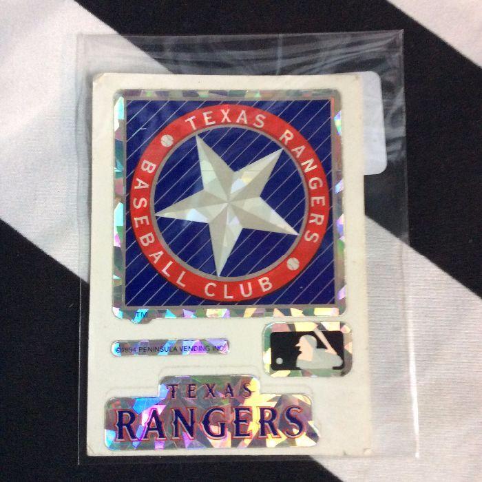 STICKER TEXAS RANGERS VENDING CARD *old stock 1