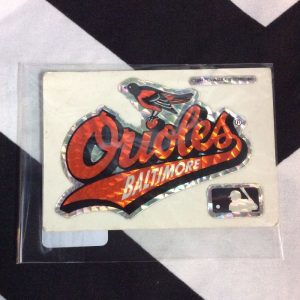 STICKER BALTIMORE ORIOLES VENDING CARD *old stock 1