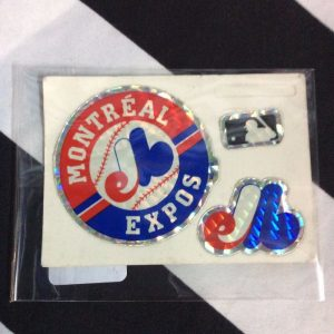 STICKER MONTREAL EXPOS VENDING CARD *old stock 1