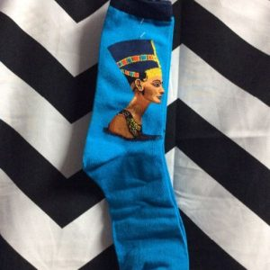 SOCKS- Egyptian Queen Blue 1