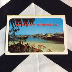 MONTEREY PENINSULA CALIFORNIA POSTCARD BOOK 1