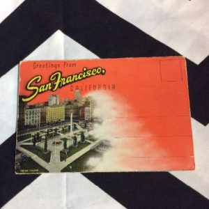 1940s Greetings from San Francisco CALIFORNIA LINEN POSTCARD BOOK 1