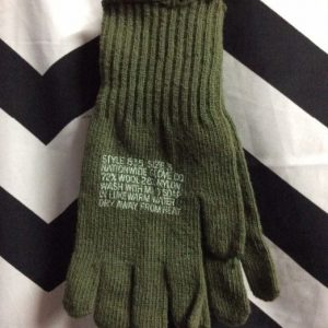 Olive Green Wool Military gloves 1