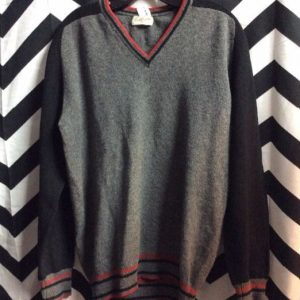 WOOL PULLOVER SWEATER V NECK 1