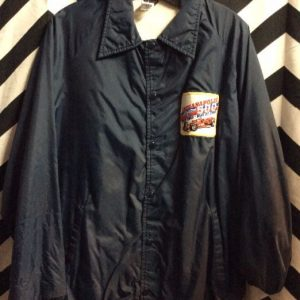 Indie 500 patched coach style windbreaker 1