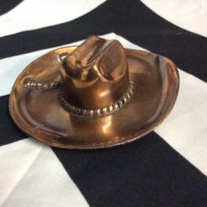 COPPER COWBOY HAT CIGAR ASHTRAY 1