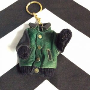 MINI LEATHER VARSITY JACKET KEYCHAINS 1