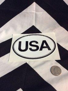 USA STICKER WHITE OVAL 1