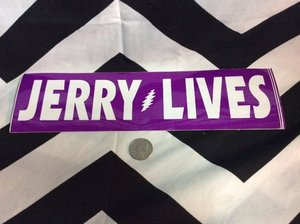 JERRY LIVES PURPLE BUMBER STICKER 1