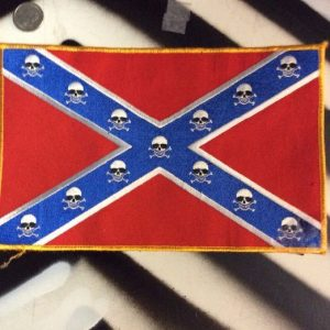 LARGE BACK PATCH- CONFEDERATE SKULL FLAG 1