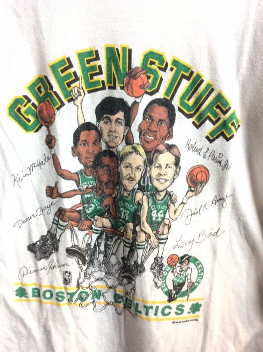 T SHIRT BOSTON CELTICS GREEN STUFF THIN 1