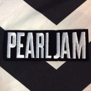 BW PATCH- PEARL JAM BLACK WITH WHITE LETTERING 1