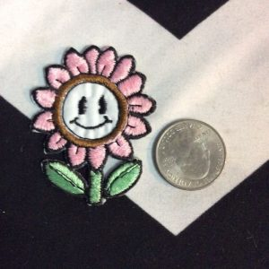 BW Patch- Flower with Face Pink Patch 1597 1