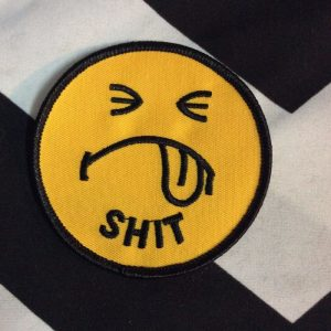 BW PATCH- SHIT FACE Patch (yellow) 498 1