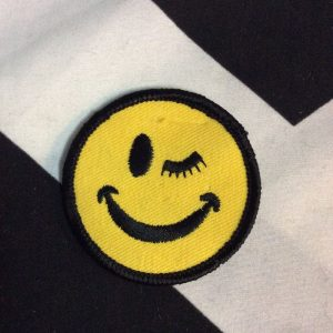 BW PATCH- WINKY SMILEY FACE 1530 1