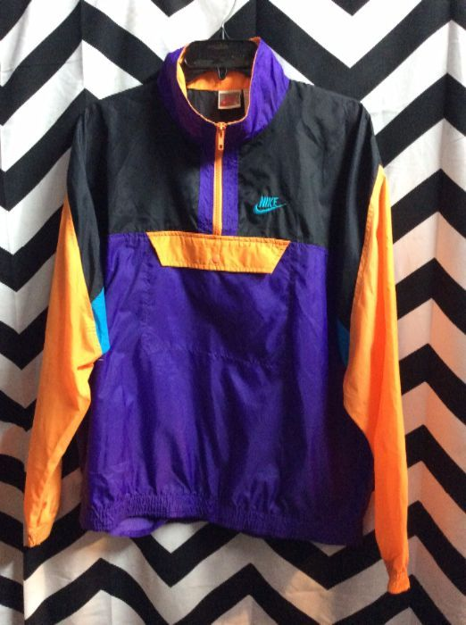 NIKE WINDBREAKER - PULLOVER - COLOR BLOCK DESIGN » Boardwalk Vintage 9dea59254