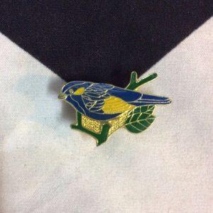 BW PIN - BLUE BIRD SPARROW 1