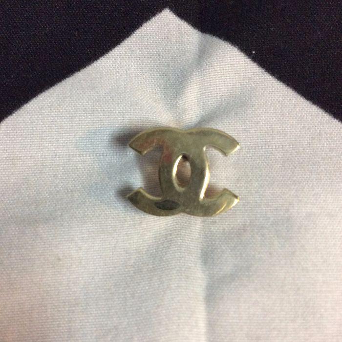 Solid Brass CHANEL logo Pin 1
