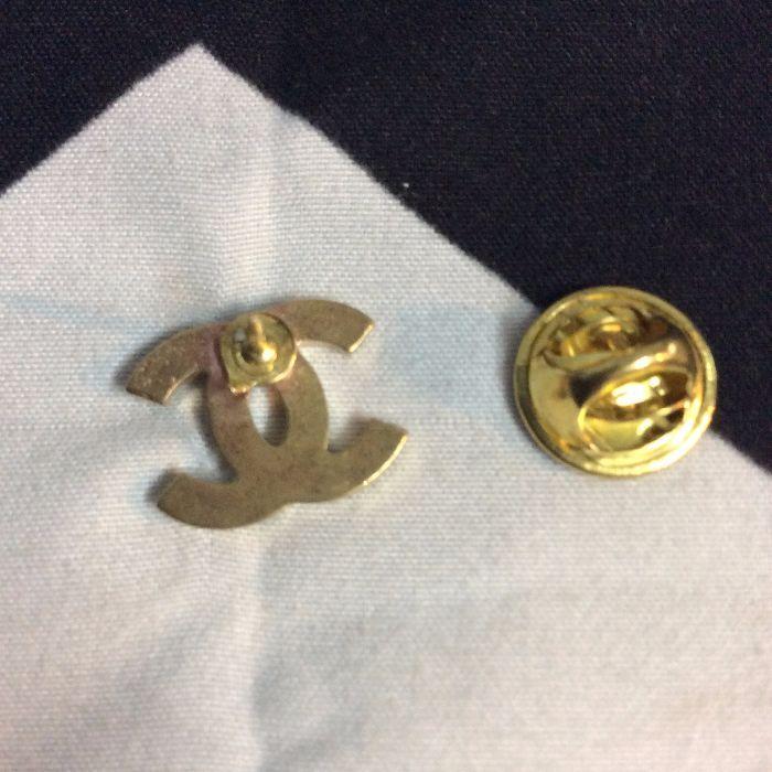 Solid Brass CHANEL logo Pin 2