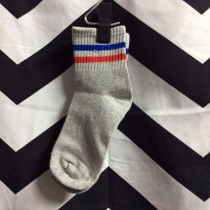 SOCKS Athletic Classic Striped- grey, red, blue 1