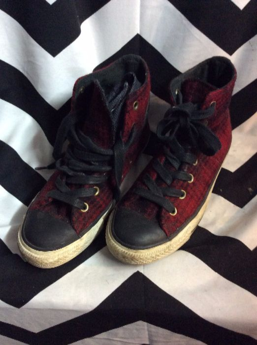 product details: CONVERSE – CHUCK TAYLOR – LACE-UP – WOOL W/TARTAN PLAID DESIGN photo