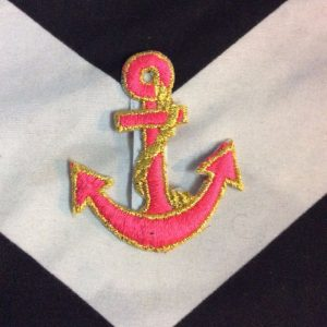 PATCH neon pink gold anchor *old stock 1