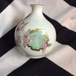 SMALL PORCELAIN FLOWER VASE Asian Style 1