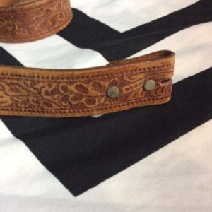 VINTAGE EMBOSSED LEATHER BELT SOFT STRAP ONLY 1