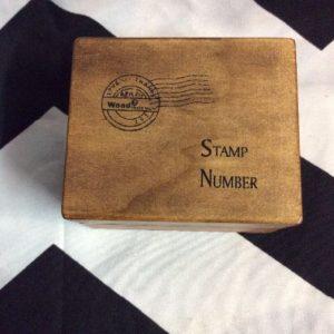 FUN STAMP NUMBER KIT WOOD BOX 1