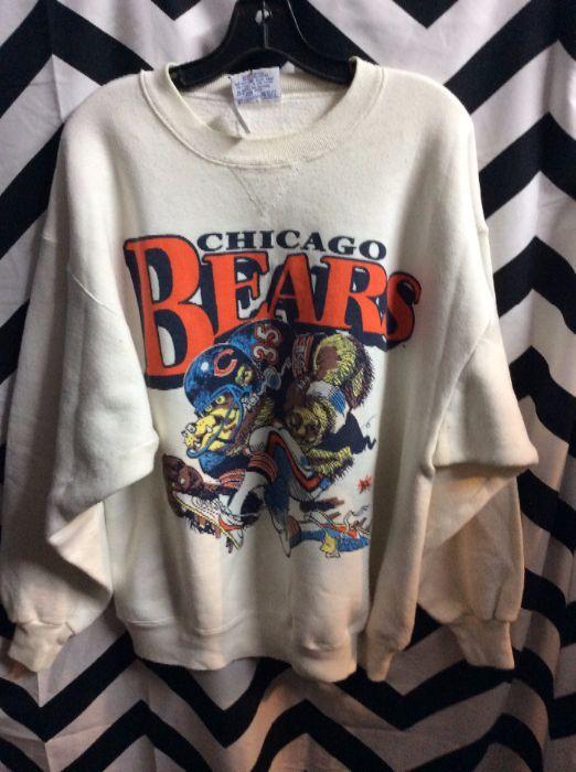 SWEATSHIRT CHICAGO BEARS CARTOON GRAPHIC 2
