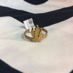 WEED LEAF RING MARIJUANA 1