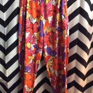 DEADSTOCK TROPICAL AUTUMN FLORAL BEACH PANTS as-is 1