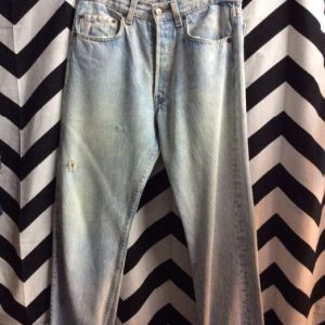 BLEACH ACID WASHED LEVIS 501 BUTTON FLY SOFT 1