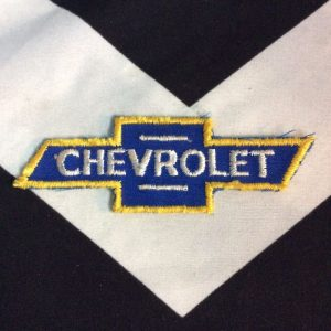 PATCH CHEVROLET LOGO BLUE YELLOW LINES *deadstock 1
