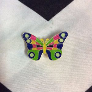BW PIN - Butterfly Green Pink Navy 1