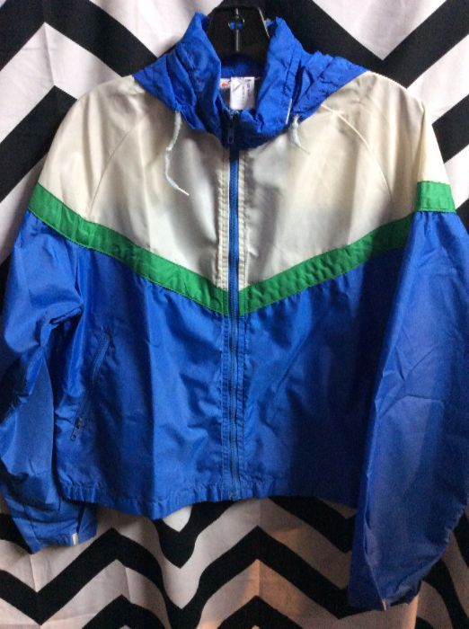 58bed7212aed RETRO NIKE WINDBREAKER JACKET - ZIP-UP - HOODED - SMALL FIT ...