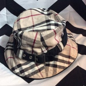 BUCKET HAT BURBERRY PLAID WITH BAND 1