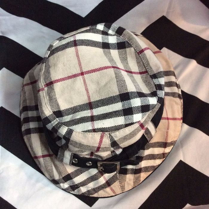 BUCKET HAT - WITH BAND - BURBERRY PLAID DESIGN » Boardwalk Vintage 41835aa6c62