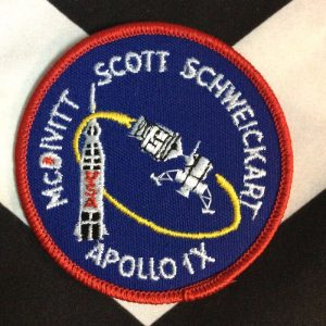 APOLLO IX NASA PATCH- SCOTT SCHWEICKART 1
