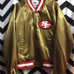 SF 49ERS LIGHT WEIGHT SATIN JACKET 1