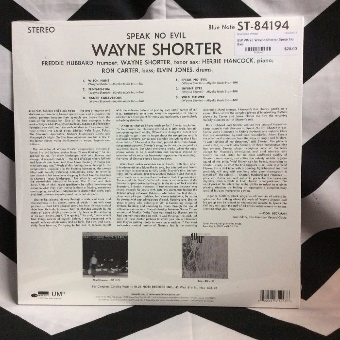 BW VINYL Wayne Shorter Speak No Evil 2