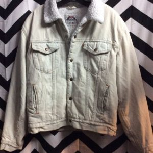 Bleach Washed Levis Sherpa Lining 1