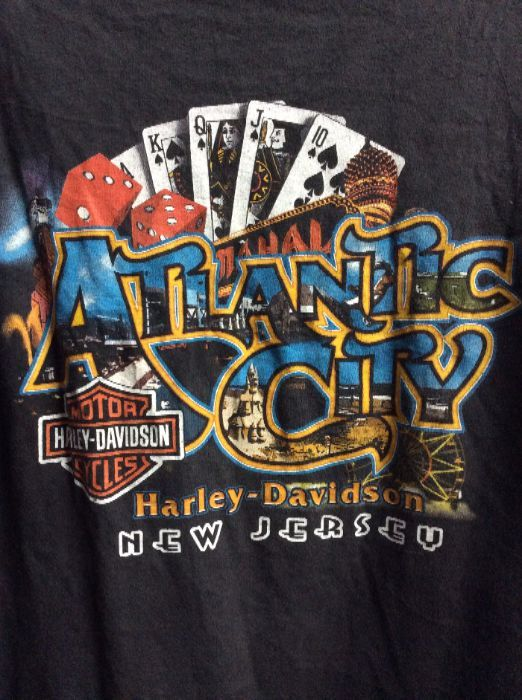 Harley Davidson T Shirt Atlantic City Nj Playing Card Dice